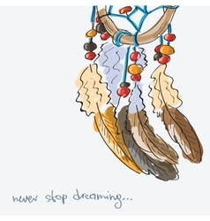 Dream catcher vector image