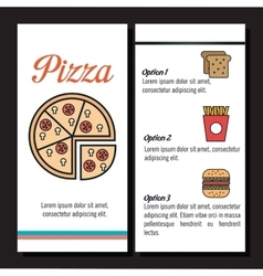 fast food restaurant menu isolated icon vector image