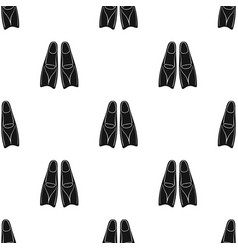 flippers icon in black style isolated on white vector image