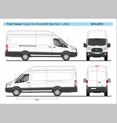 Ford transit cargo delivery van l4h3 2014-2018 vector