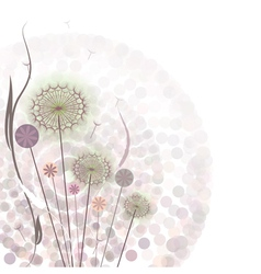 Gentle floral background vector image