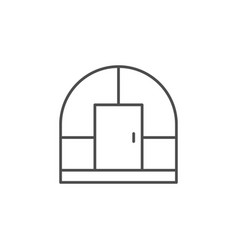 Greenhouse building line outline icon vector
