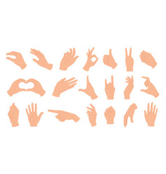 hands holding gestures elegant female and male vector image