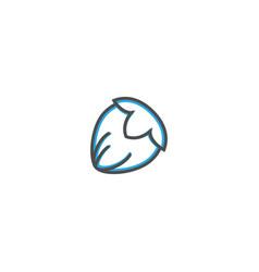hazelnut icon design gastronomy icon vector image
