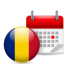 Icon of national day in romania vector