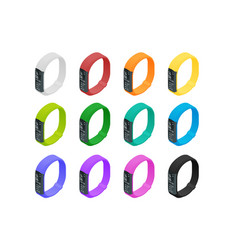 isometric fitness bracelet or tracker with a vector image