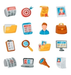 Job search icons set vector image