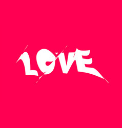 love banner poster and sticker concept with vector image