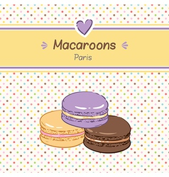macarons three vector image