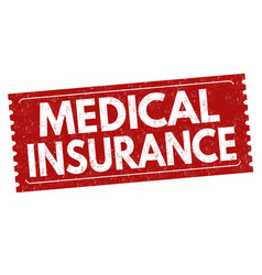 medical insurance sign or stamp vector image