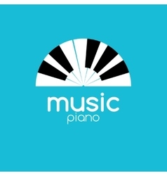 Minimalistic music piano logo Music trendy vector