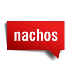 nachos red 3d speech bubble vector image