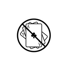 No gambling line icon prohibition sign forbidden vector