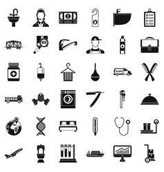 occupation icons set simple style vector image