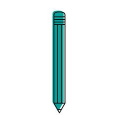 Pencil with eraser school supply icon image vector