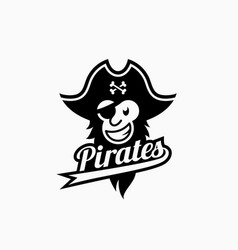 pirate mascot vector image