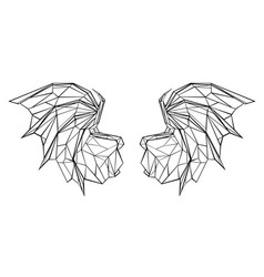 polygonal dragon wings vector image