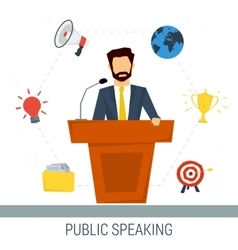 Public speaker from tribune vector image