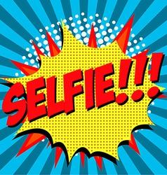Selfie pop art style vector image