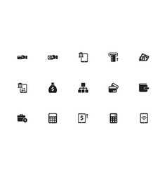 set of 15 editable finance icons includes symbols vector image