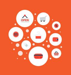 set of magazine icons flat style symbols with sale vector image