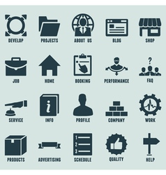 Set of marketing internet and service icons vector image