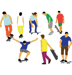 Skateboards collection vector