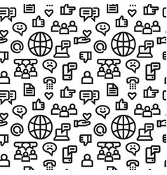 social media pattern vector image