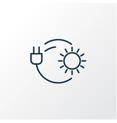 solar power icon line symbol premium quality vector image
