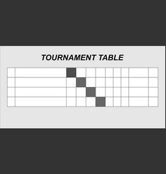 team results table template vector image