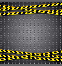 under construction dark background with yellow vector image