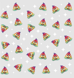 Unicorn poop colorful background seamless pattern vector