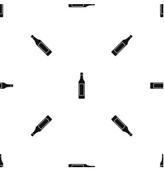 vinegar bottle pattern seamless black vector image