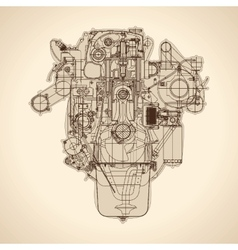 Old car blueprint vector images 10 vintage engine old picture vector malvernweather Choice Image