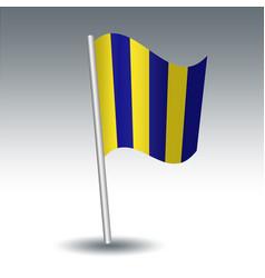 Waving maritime signal flag g golf on slanted vector