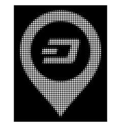 white halftone dash map pointer icon vector image