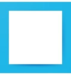 white square empty mockup vector image