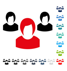 woman group icon vector image