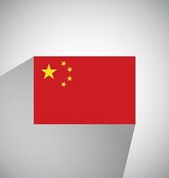 Flat Flag of China vector image vector image