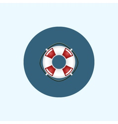 Icon with colored lifebuoy vector image vector image