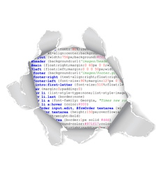 webpage hole vector image vector image