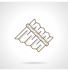 Abstract panpipes flat line icon vector image