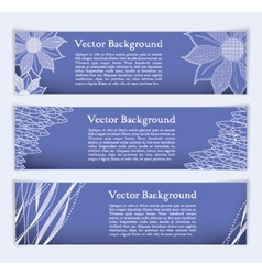 Banners with elegant lines and textures vector image