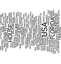 Florida bound text background word cloud concept vector