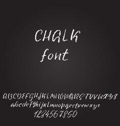 handwritten chalked font imitation texture vector image vector image