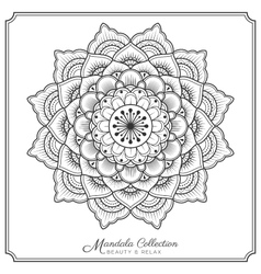 mandala decorative ornament design for coloring vector image vector image