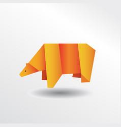 origami bear vector image