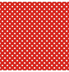 Seamless pattern white polka dots red background vector image vector image
