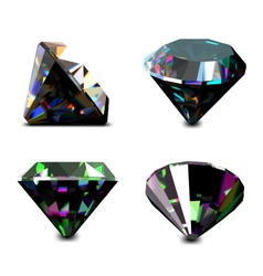 Set of jewelry gems vector image