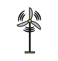 wind turbine isolated vector image